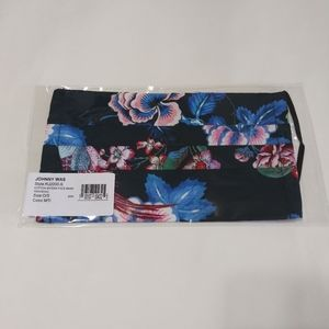 2/$25 JOHNNY WAS Cotton Face Mask Floral Print